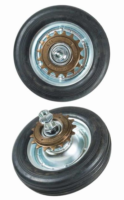 QU-AX rear wheel for minibike