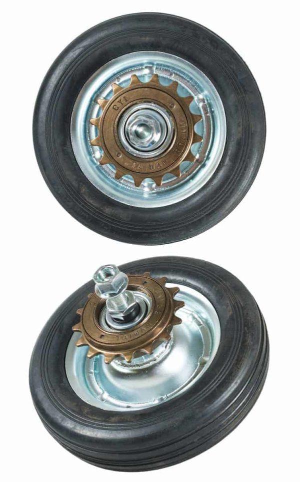 QU-AX rear wheel for minibike