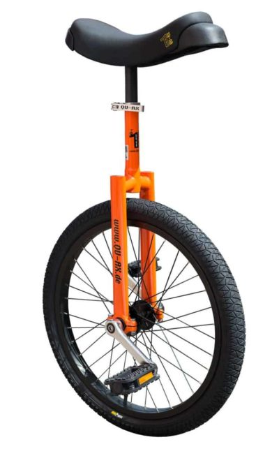 "Luxus 20"" orange learner unicycle"