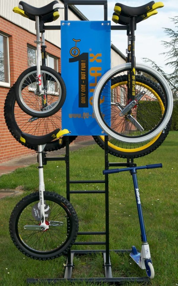 QU-AX stand for 8 unicycles
