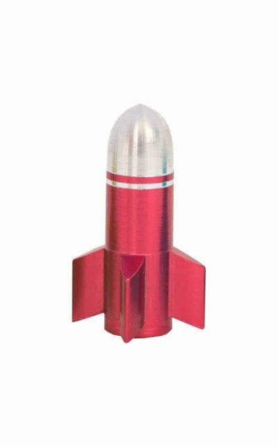 valve cap, rocket, red