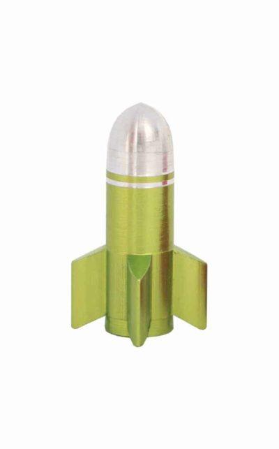 valve cap rocket, green