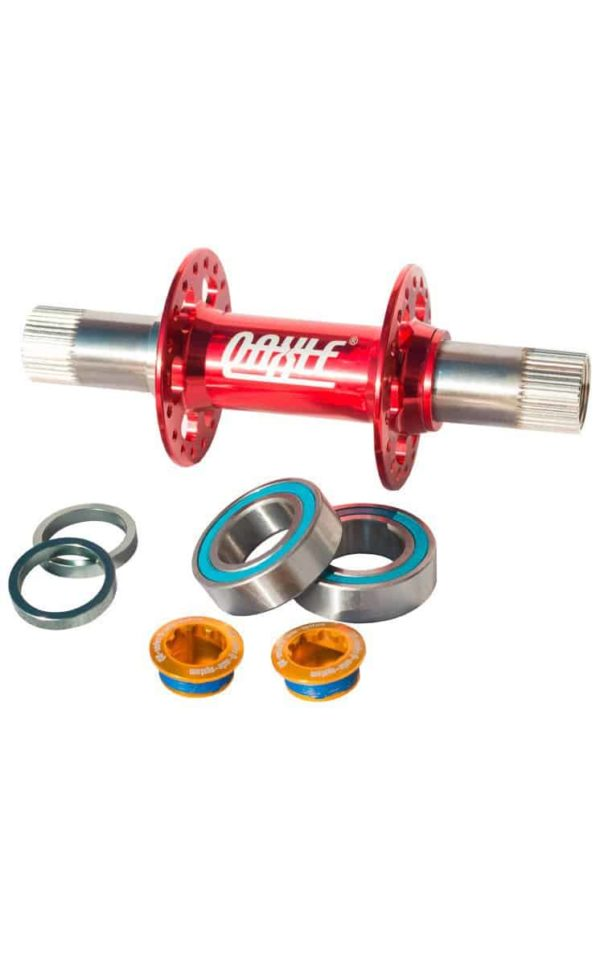 QU-AX Q-Axle Hub, red, 36 holes