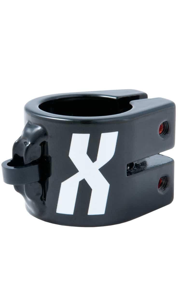 Seatclamp QX triple, black, 31.8 mm