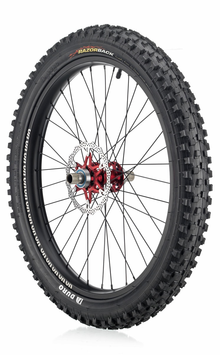 "#rgb disc unicycle wheel, black 24"" rim"