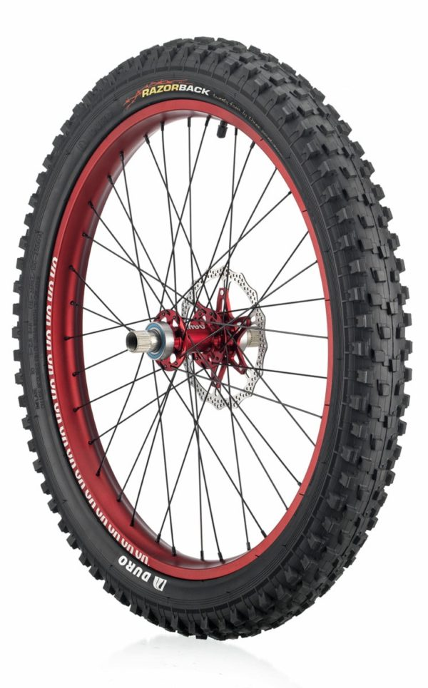 "#rgb disc unicycle wheel, red 24"" rim"
