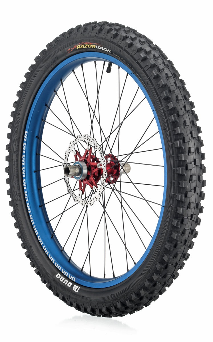"#rgb disc unicycle wheel, blue 24"" rim"