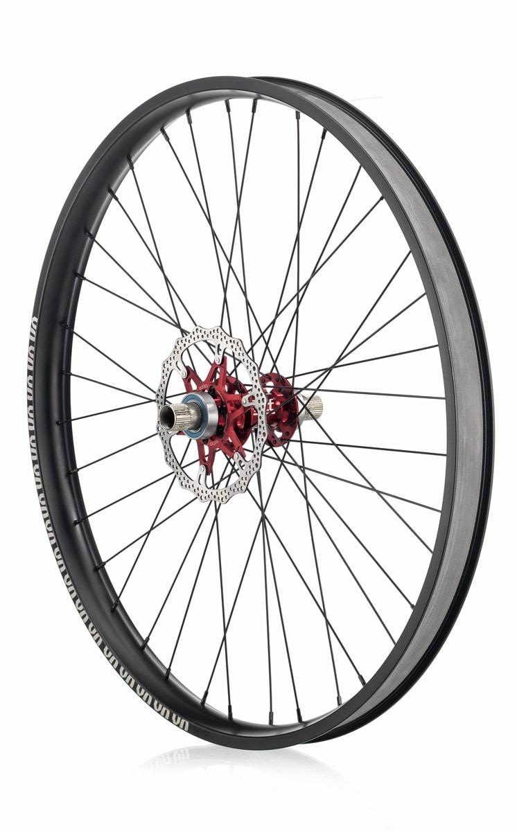 "#rgb disc unicycle wheel, black 27,5"" rim"