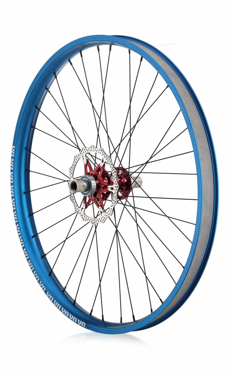 "#rgb disc unicycle wheel, blue 27,5"" rim"