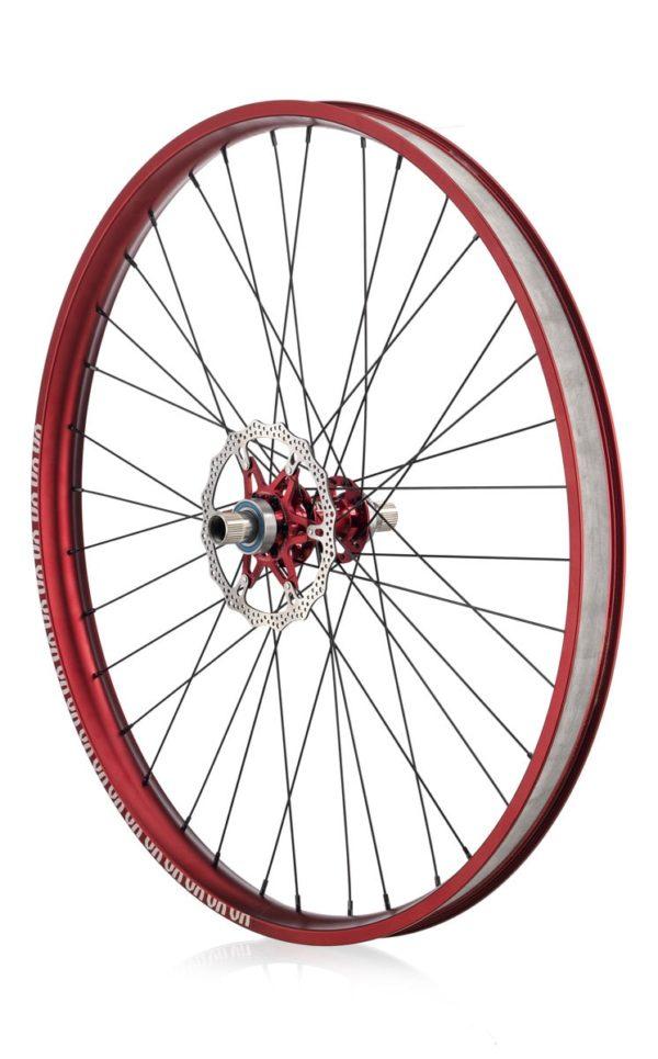 "#rgb disc unicycle wheel, red 29"" rim"