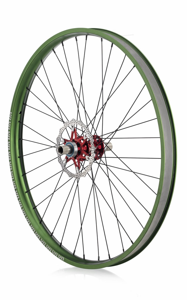 "#rgb disc unicycle wheel, green 29"" rim"
