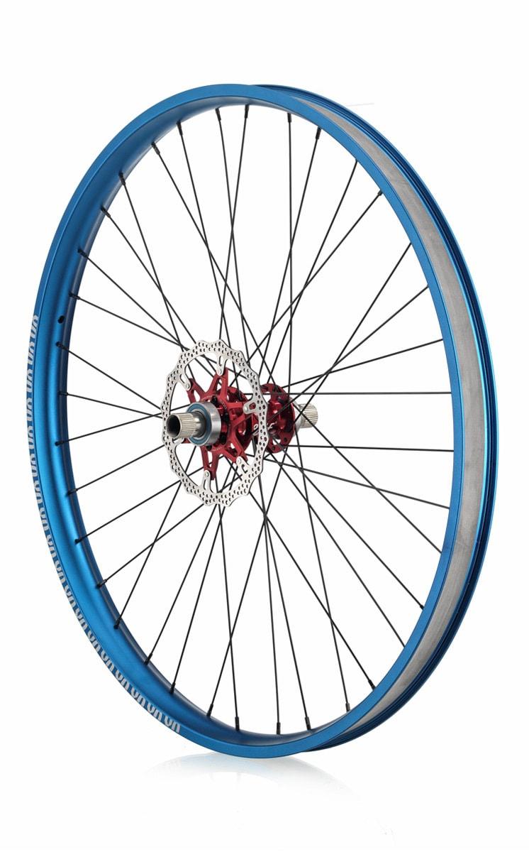 "#rgb disc unicycle wheel, blue 29"" rim"
