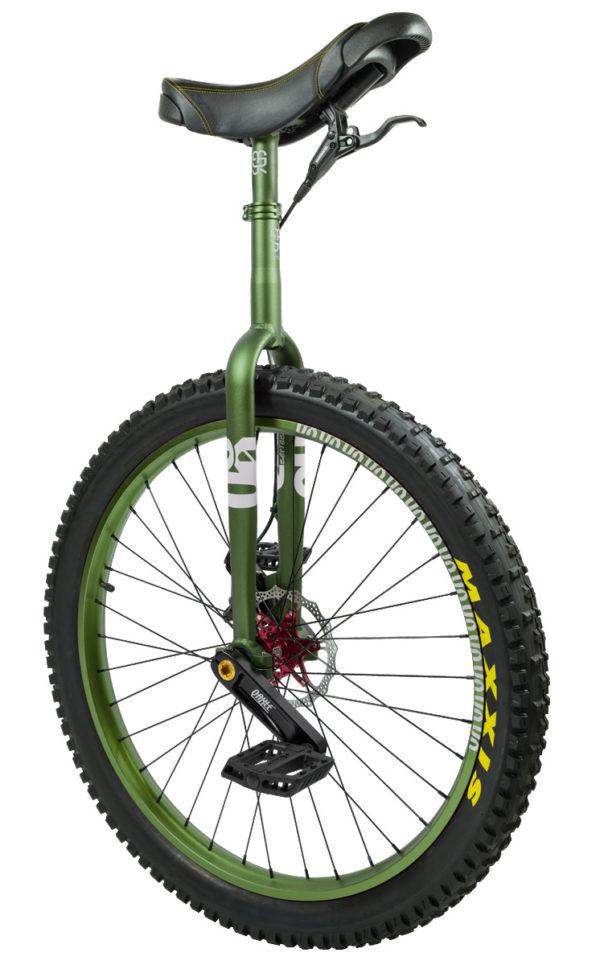 "#rgb 27,5"" QX disc unicycle, green"