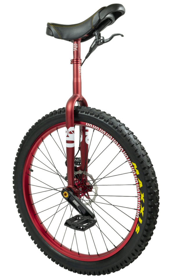 "#rgb 27,5"" QX disc unicycle, red"