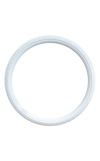 "wide Profi 20""x2,25"" tire, white"