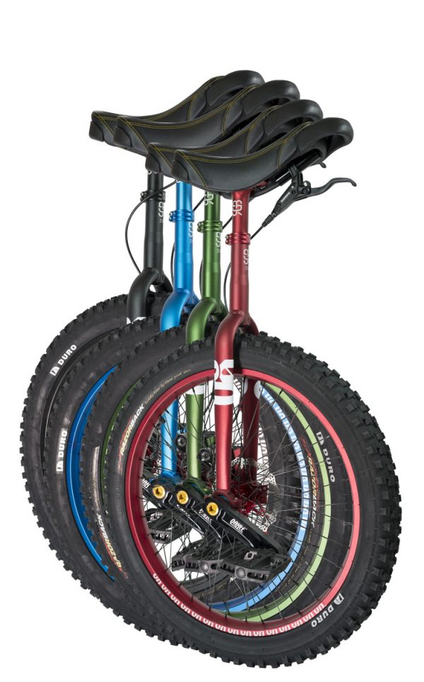 "QX-series #rgb 24"" unicycles"