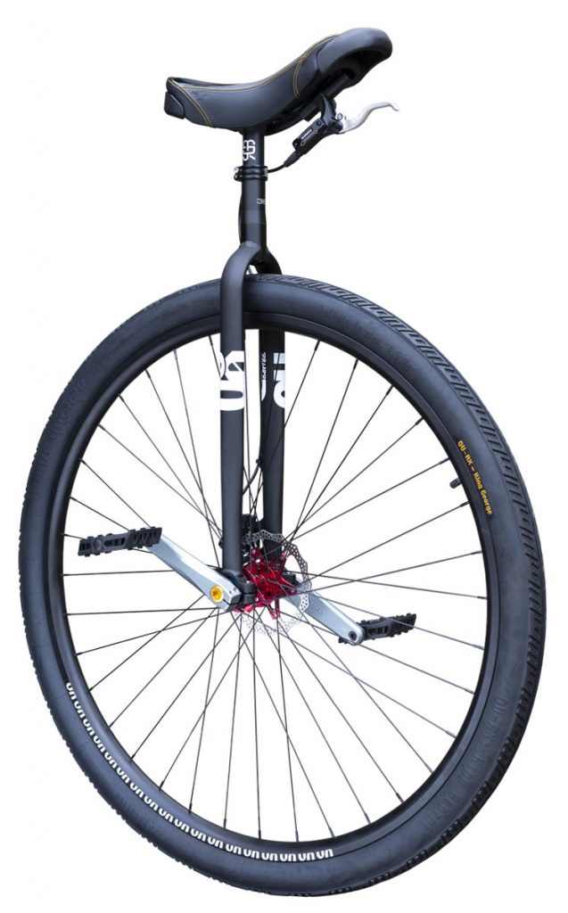 "7660 #rgb Distance unicycle 36"" Disc, black"