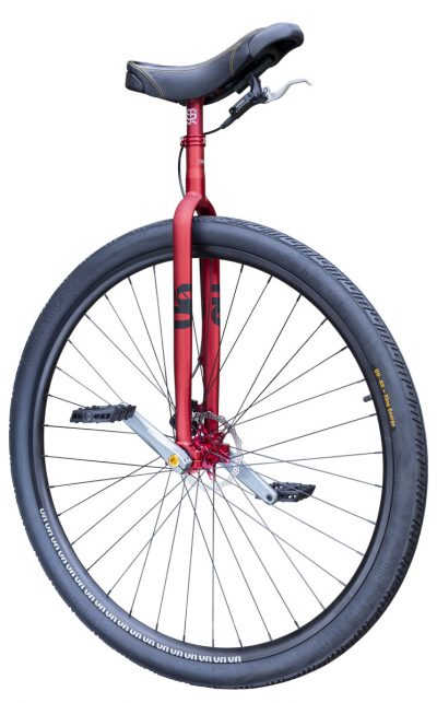 """7661 #rgb Distance unicycle 36"""" Disc, red"""