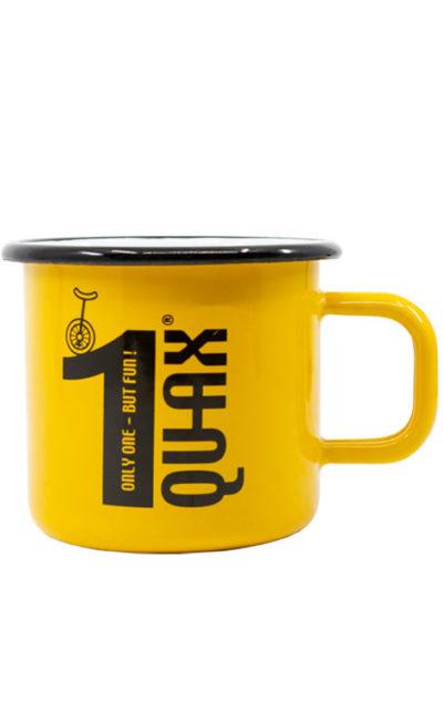 QU-AX enamel cup, yellow