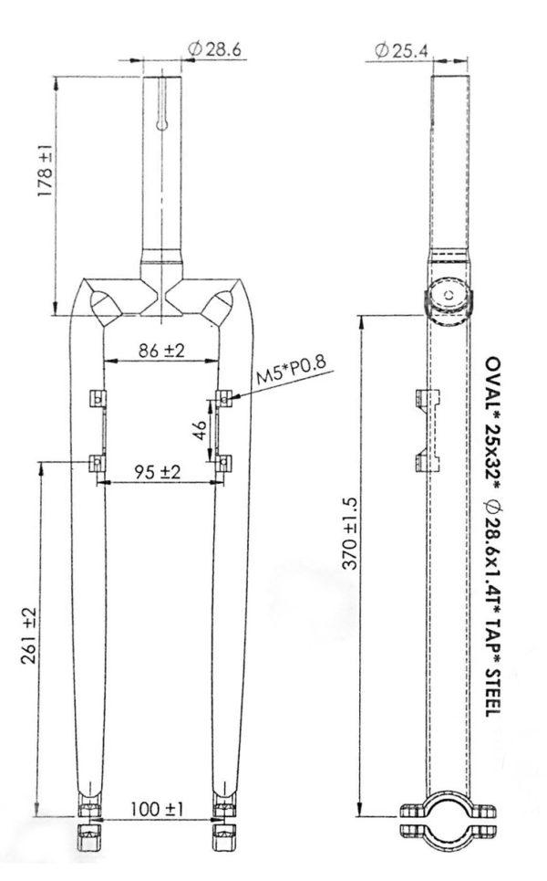 """Muni 27,5"""" Unicycle frame with Magura sockets"""