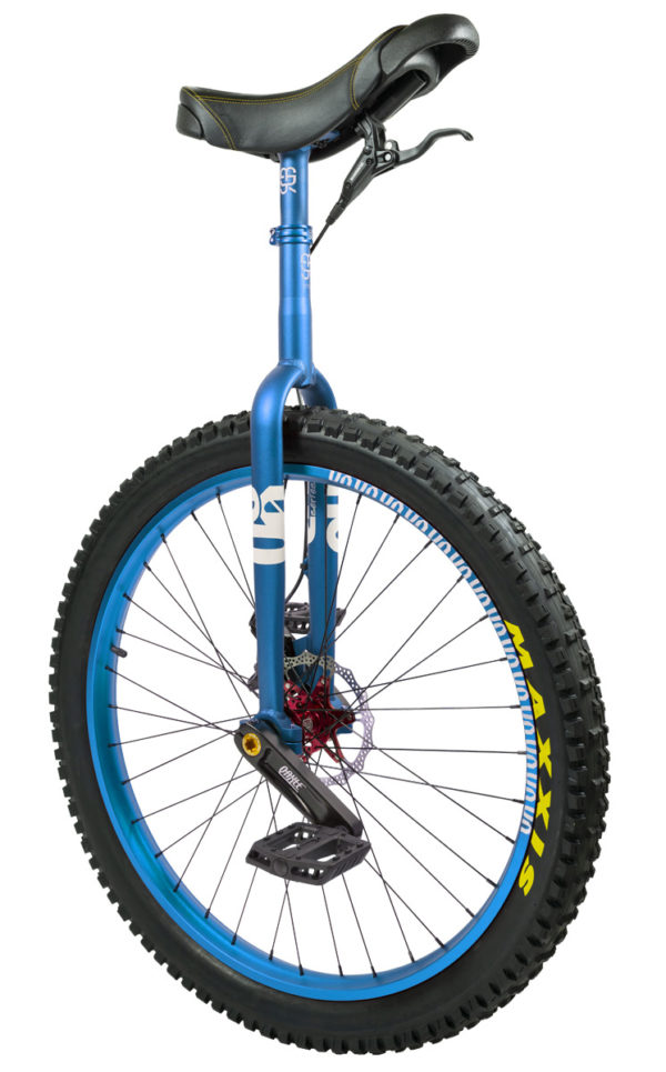 "#rgb 27,5"" QX disc unicycle, blue"