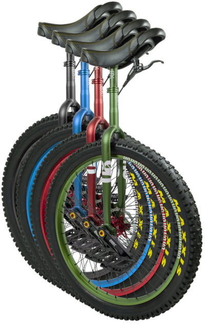 "QX-series #rgb 27,5"" unicycles"