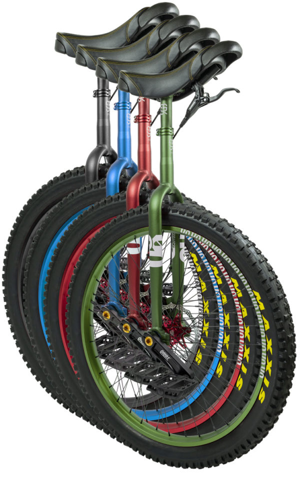 "QX-series #rgb 27,5"" unicycles"