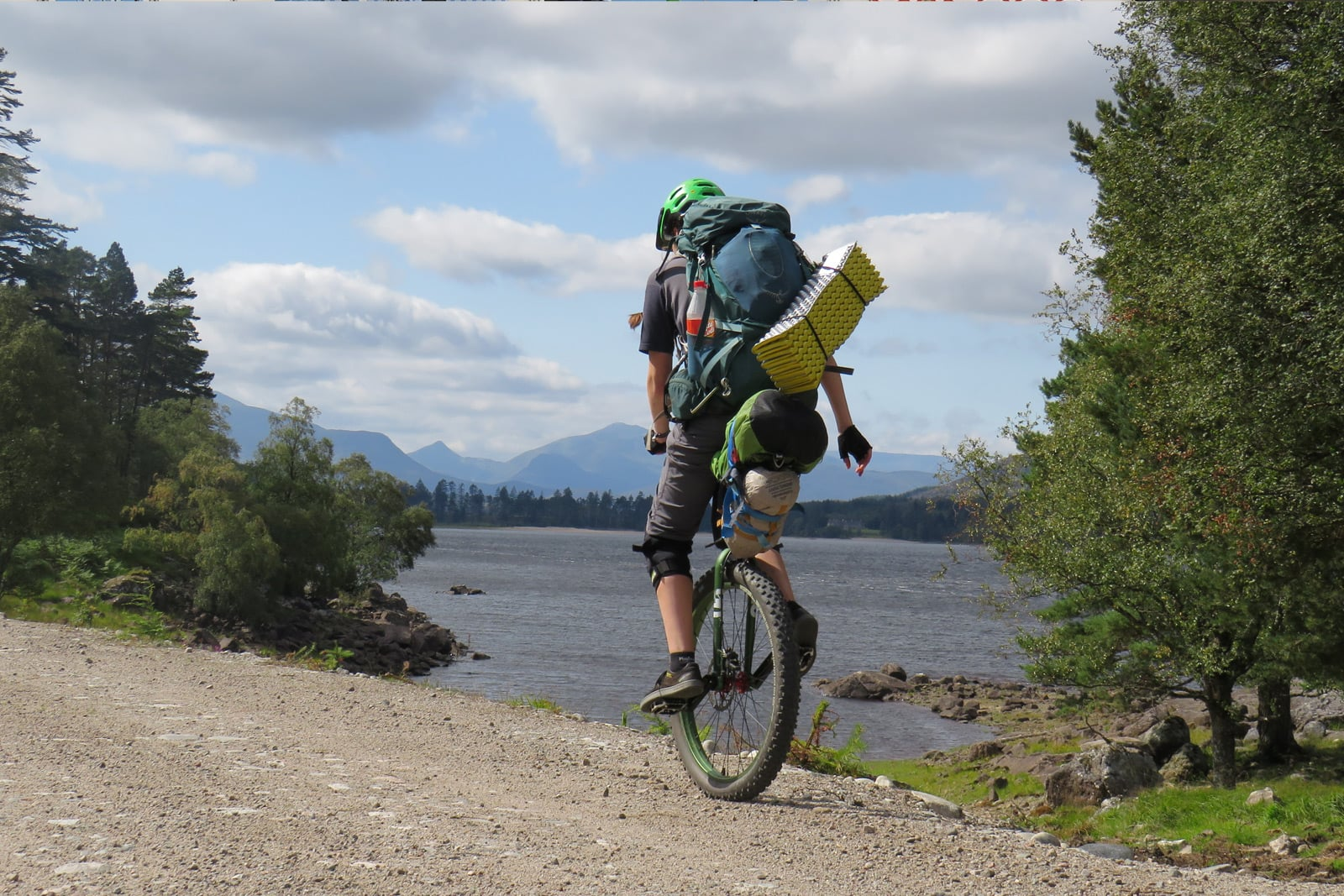 One wheel Bikepacking with Becky