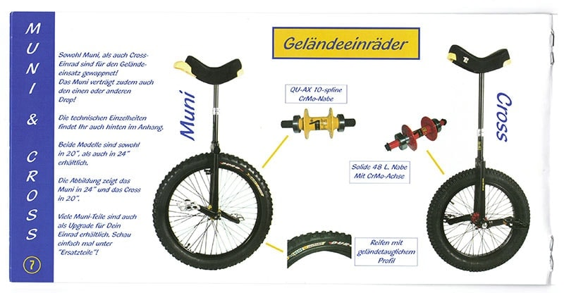 First Unicycle catalogue in the world
