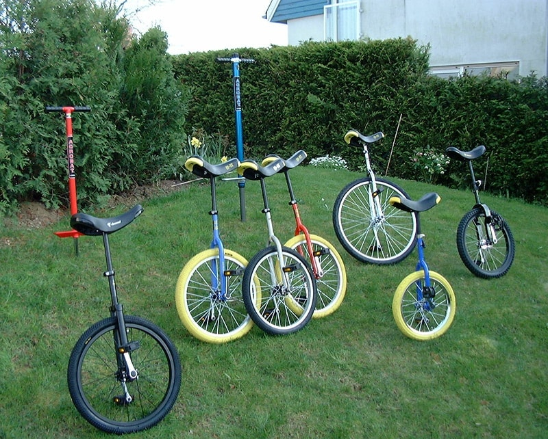Enlarged range with Unicycles and Pogo-Sticks