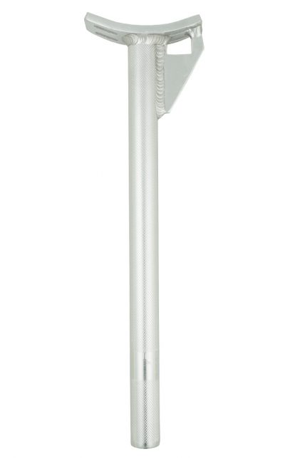 Aluminium Sattelstütze, silber, 25,4 mm, mit Gusset