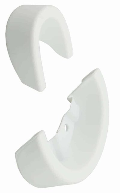 QU-AX Sattelschutzecken Kindersattel Pusteblume, weiss