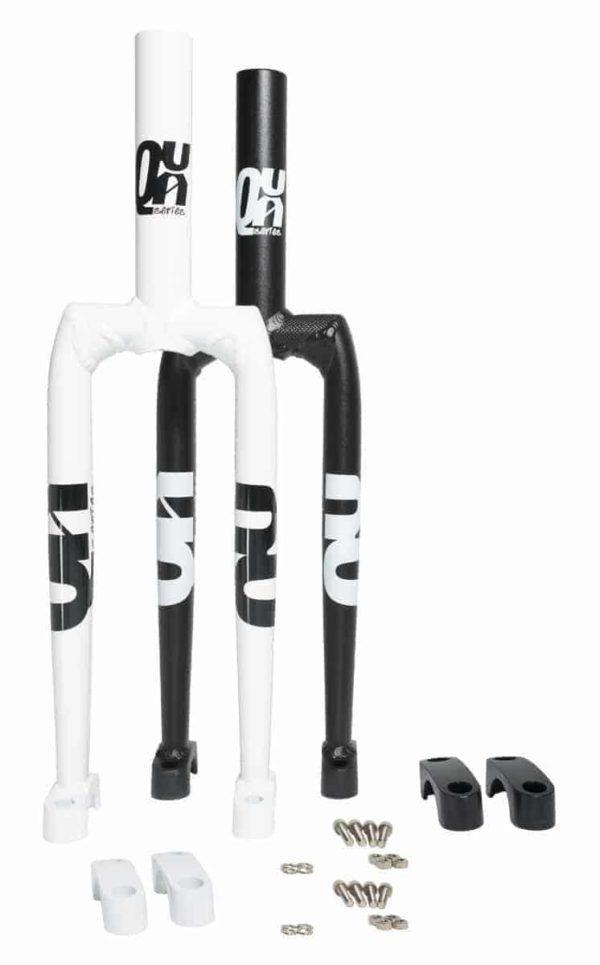 "QX-series Aluminiumgabel, weiss/schwarz, 19"""