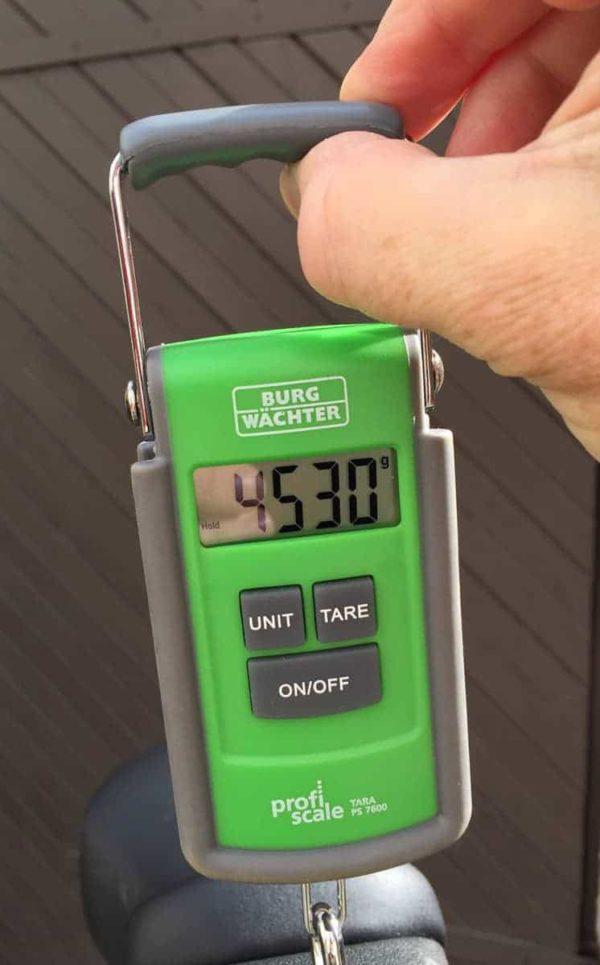 Gewicht des Muni Q-light