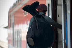 Der QU-AX Rucksack für Einräder