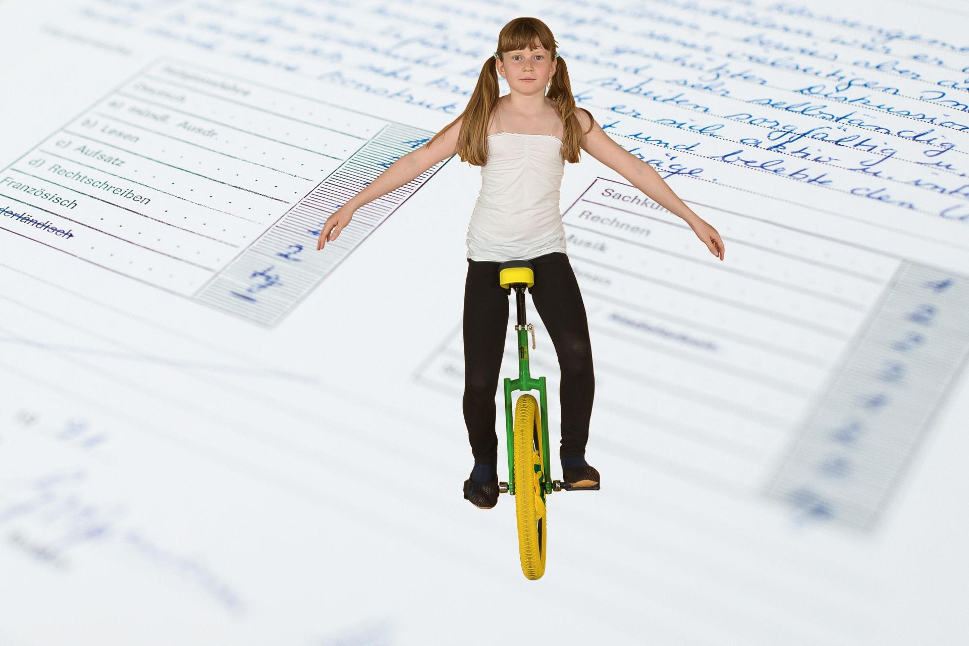 Gleichgewicht und Schulnoten