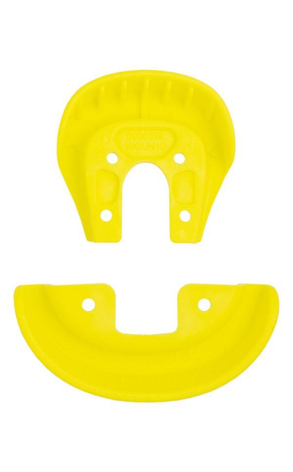 2152 QU-AX Schutzecken für Standard Sattel, gelb Unterseite