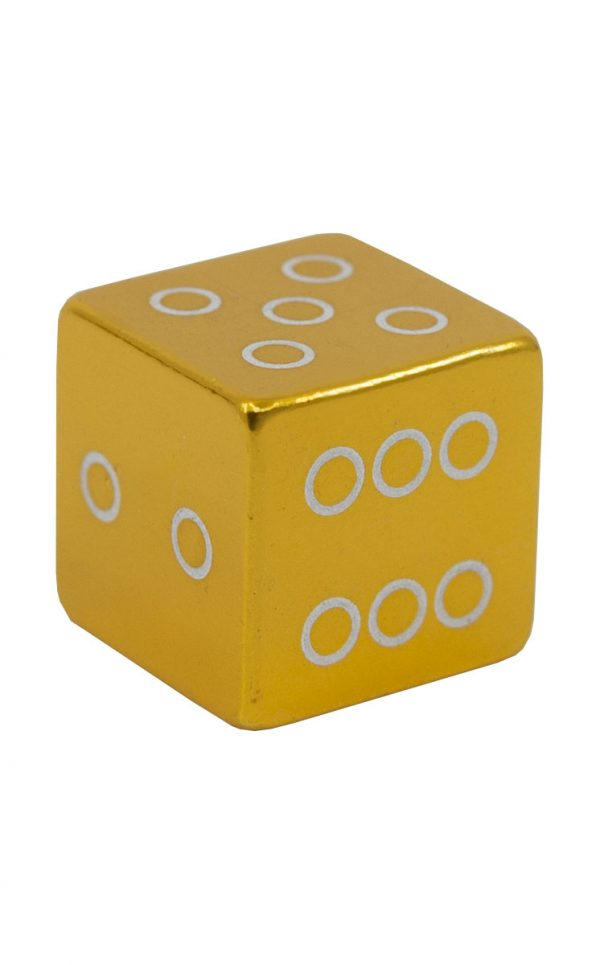 2165 Ventilkappe Würfel gold