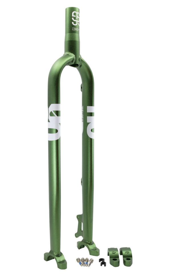 "QX 787 mm (36"") #rgb Einrad Disc Gabel + Klemme, grün"