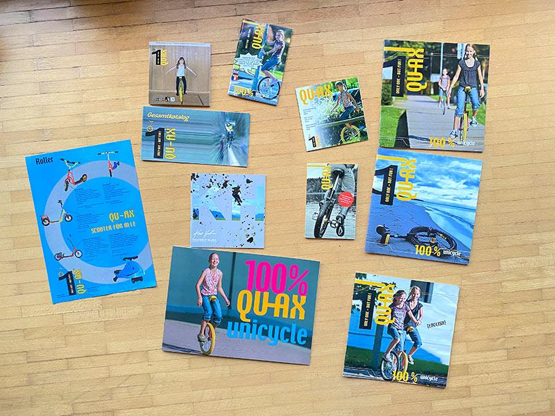 QU-AX Kataloge im Laufe der Jahre
